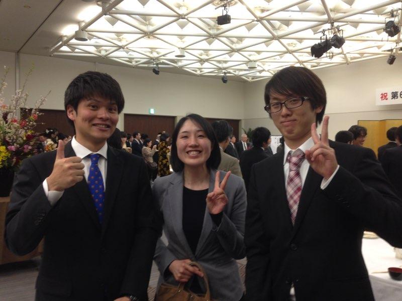 卒業祝賀会にて