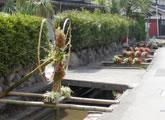 長浜市雨森集落の取り組み<br />老人会による竹細工。巧みな手仕事からは農家の奥行きと地元への愛着を感じます。