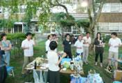 研究室OBとの交流会・バーベキューパーティー(2011年8月)
